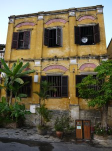 French colonial building in Hoi An