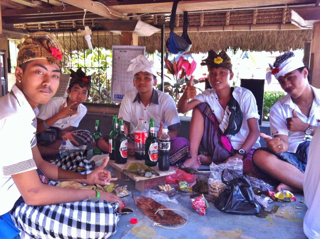 Locals celebrating Galungan