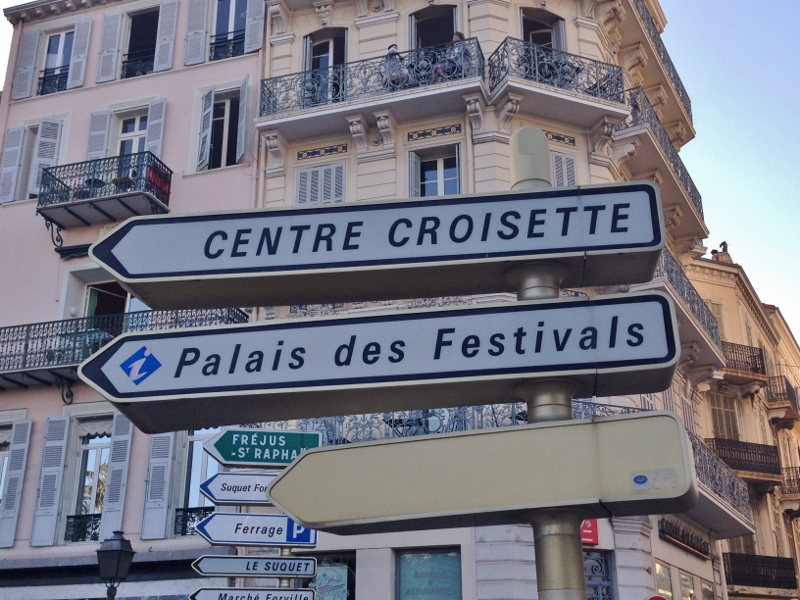 Croisette street sign in Cannes