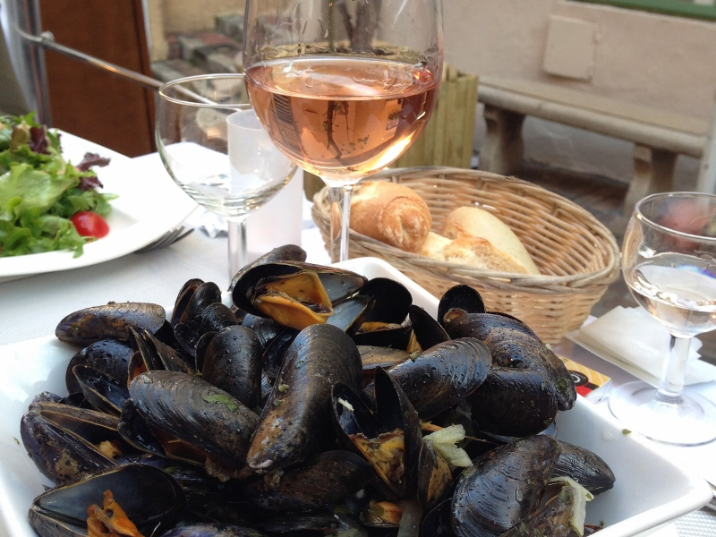 Mussels and rose